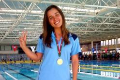 Raquel Correia bate el récord en natación adaptada