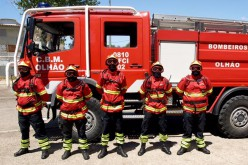 Bomberos de Olhao ayudan a combatir incendios en Aveiro