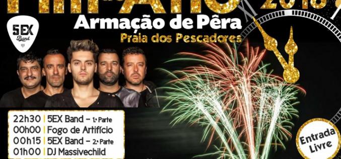 La '5EX BAND', en concierto en Fin de Año en Armação de Pêra