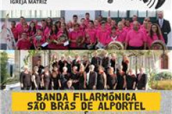 La Banda Filarmónica de São Brás y el Coro de Amigos del Museo, en el Concierto de Año Nuevo