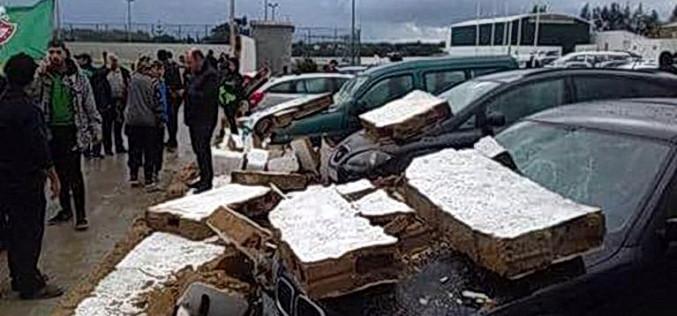 Fuertes vientos dejan daños en Faro y Olhão