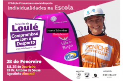 La Campeona del Mundo de Bodyboard, Joana Schenker, visita escuelas en Quarteira y Almancil